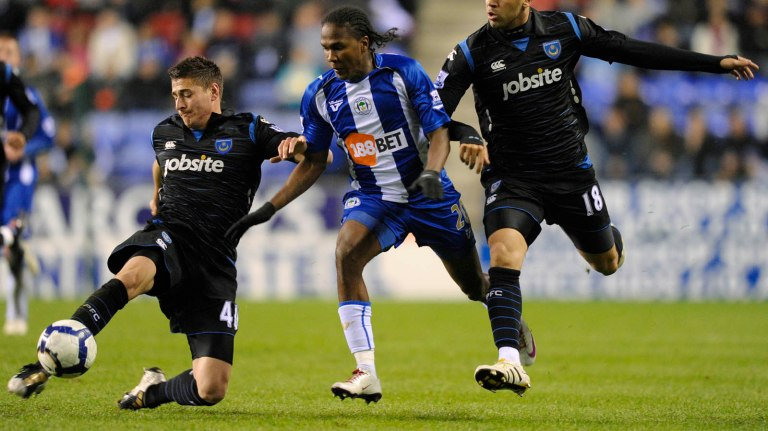 Wigan Athletic v Portsmouth Barclays Premier League