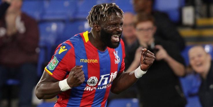 CP v Huddersfield 19/9/17 Bakary Sako celebrates his goal Photo: ©Neil Everitt